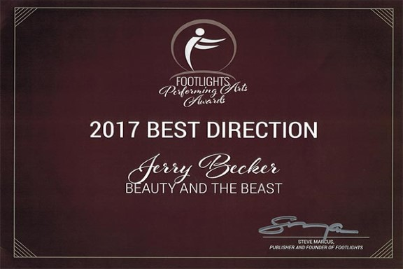 FOOTLIGHTS AWARD 2017 - BEST DIRECTOR